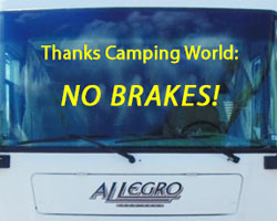 Camping World 2008 Allegro No Brakes